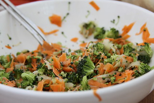 cucumber, carrot & broccoli slaw | by katinlee