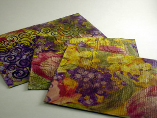Recycled Tissue Paper Postcards | by CraftyGoat
