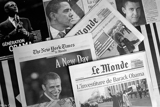 The Press Watching Obama | by h de c