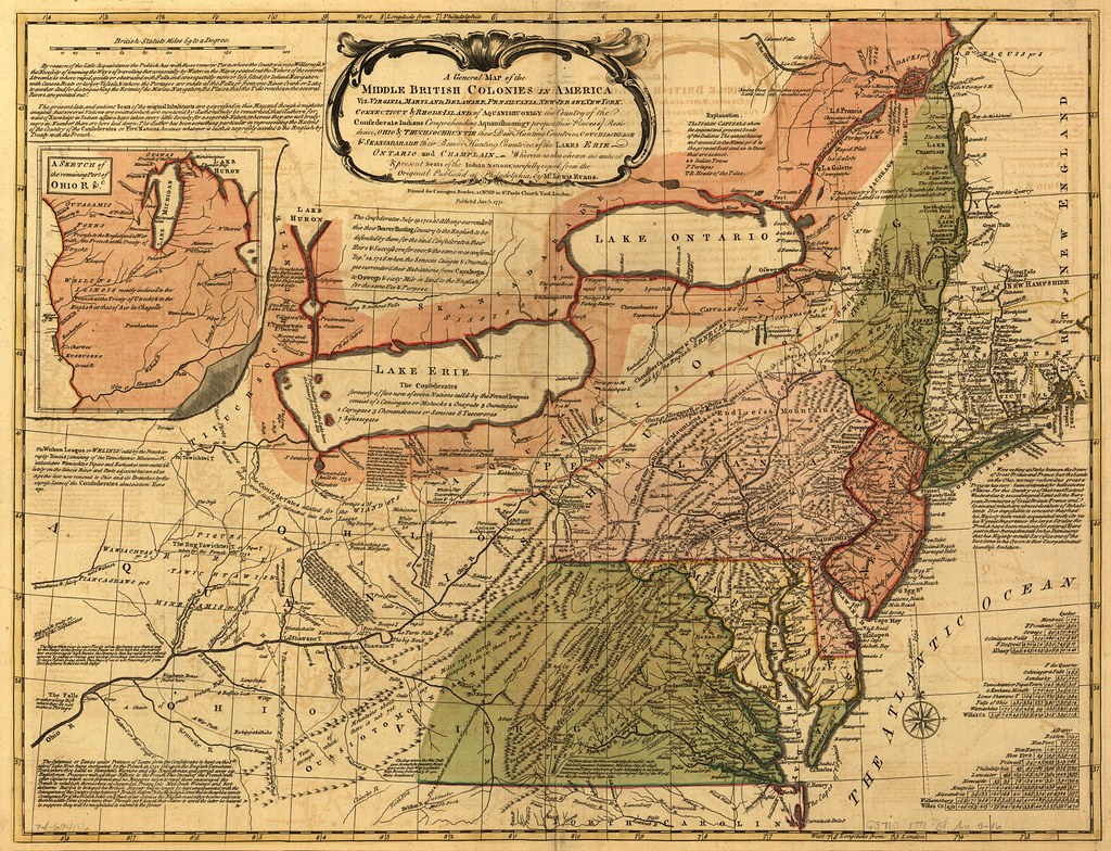 A general map of the middle British colonies in America Flickr