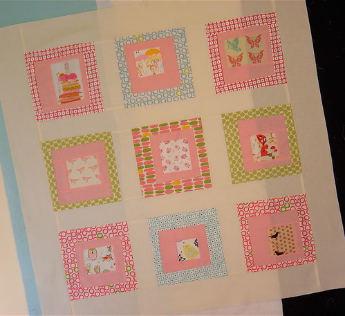 Girly Baby Quilt top | by alissahcarlton