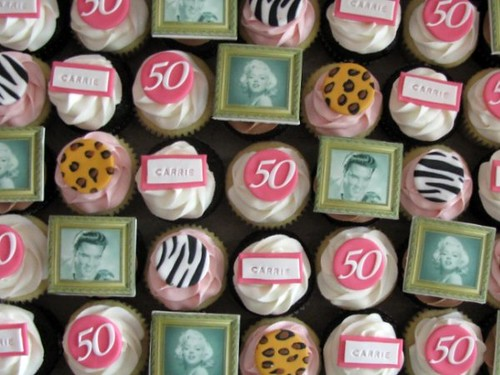 Fifty and Fabulous Cupcakes | by clevercupcakes