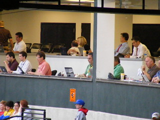 Press box at Oriole Park | by tedkerwin