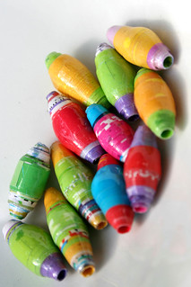 Recycled Paper Beads | by ziggiau