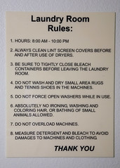 Apartment Building Rules Laundry Room Pun Intended By Shaycam A