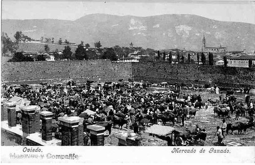 Mercado de ganado san lazaro oviedo archivo municipal for Piscinas san lazaro oviedo