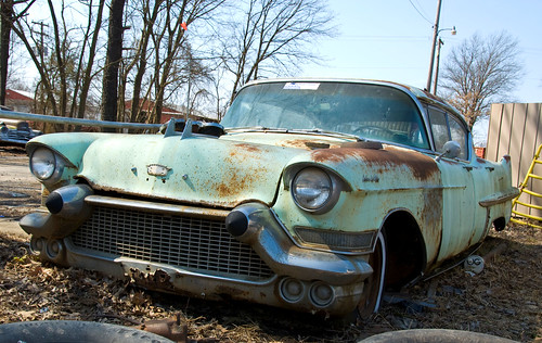 "Cadillac Sedan DeVille  ""a faded green beauty"" 