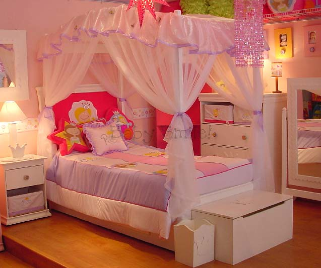 Cama Princesa con dosel Baby Smile | Muebles Infantiles Baby Smile ...