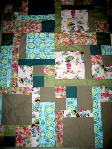 Green/pink Turning Twenty Again Quilt | by hambox
