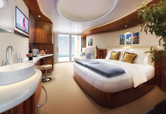 Norwegian Epic Balcony Cabin artist rendering | by atlassb