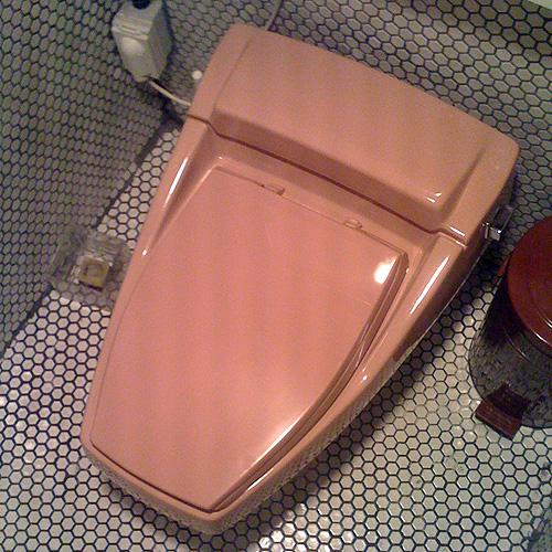 vintage toilet i like looks like a delorean apgujeong superlocal flickr. Black Bedroom Furniture Sets. Home Design Ideas