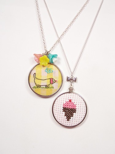 needlepoint necklace | by amylcluck
