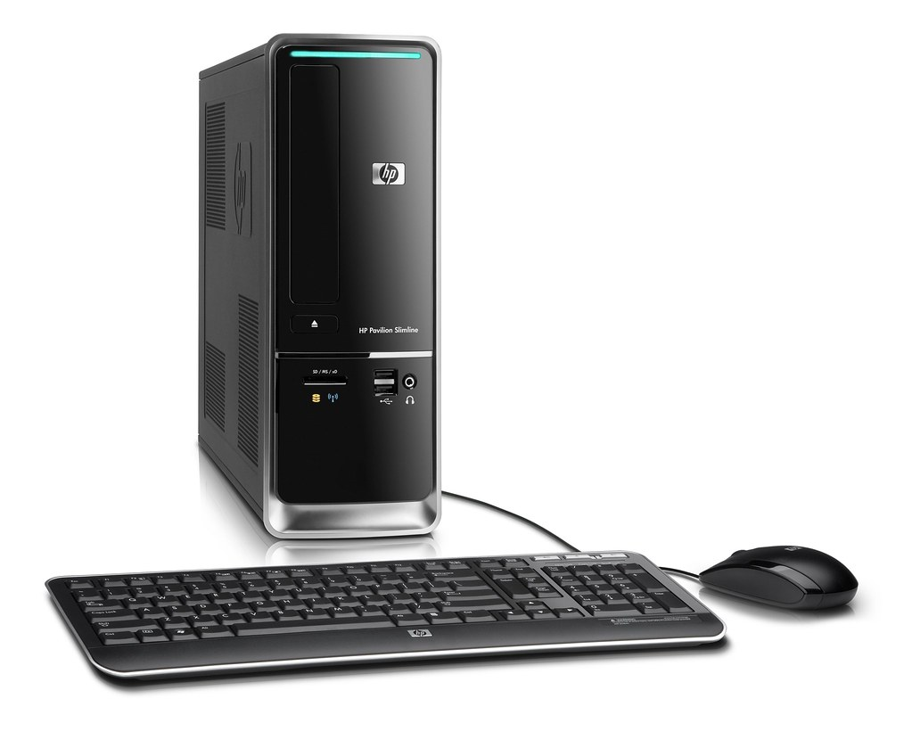 ... Right view of HP Pavilion Slimline s5000 with keyboard and mouse | by HP  Hewlett-