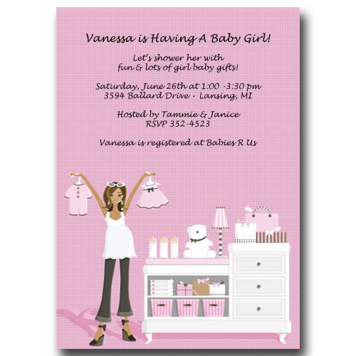 African american pink baby shower invitations visit ba flickr african american pink baby shower invitations by baby cachet m4hsunfo