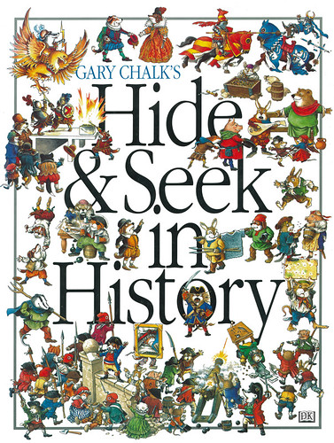 DK Hide And Seek - I created a game in this book, where temporal travelers flit through history looking for valuable objects to sell in their shop at the end of time. Each scene featured cut-away buildings and a cast of thousands. | by widdershins3