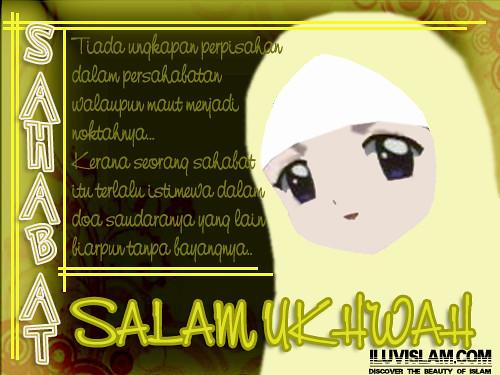 Gambar Anime Muslimah Dengan Kata Kata