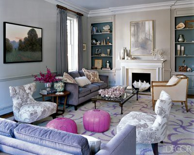 elle decor living rooms.  Luxurious neutral living room pink accents from Elle Decor by SarahKaron De Flickr