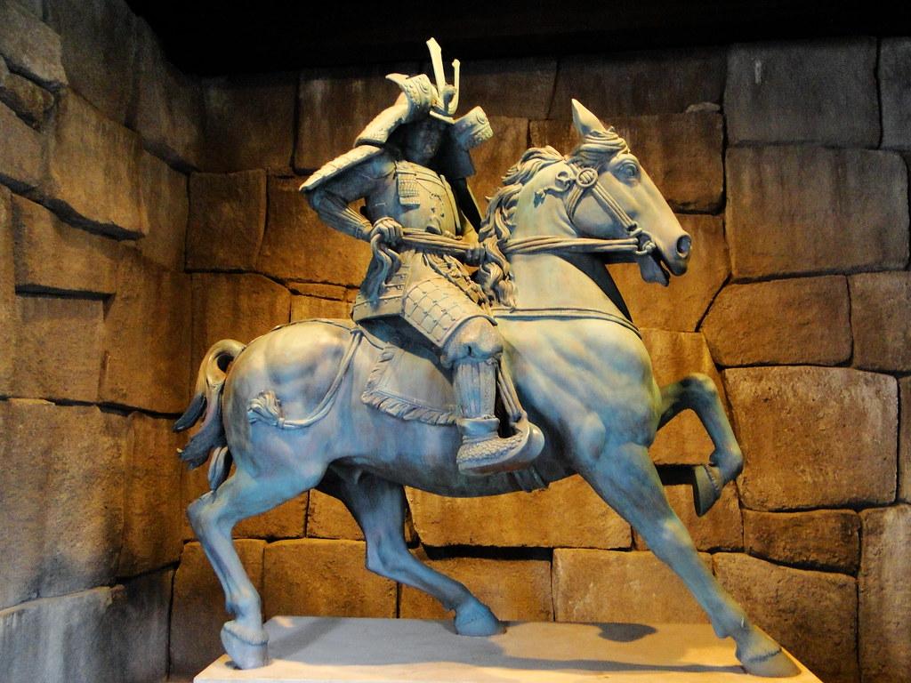 samurai warrior sculptures japan world showcase disney s flickr