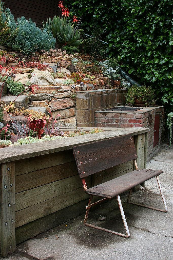 Super Bench And Succulent Slopes Kelly Kilpatrick Flickr Caraccident5 Cool Chair Designs And Ideas Caraccident5Info