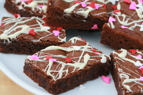 Mexican Chocolate Valentine's Brownies | by Food Librarian