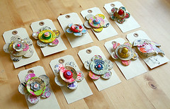 Paper Mache Brooches | by Live Bohemian