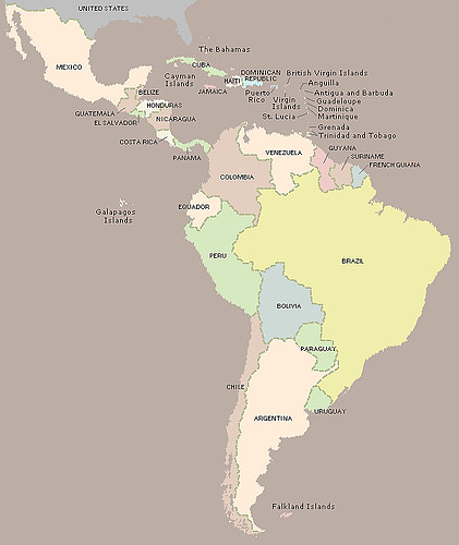 Mapa De America Latina Map Of Latin America Douglas Fernandes Flickr