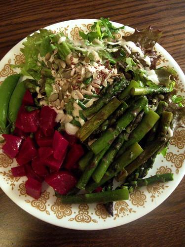Lettuce, radishes & their greens with a yogurt tahini dres… | Flickr
