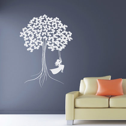 stickers balancoire dans un arbre 1 fanastick stickers flickr. Black Bedroom Furniture Sets. Home Design Ideas