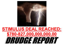 Feb 7 Drudge Front Page: Stimulus Bill Compromise Story | by MyEyeSees