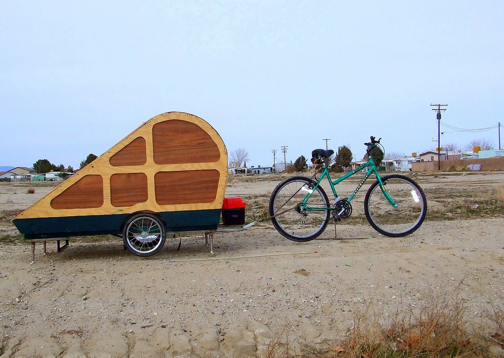 One Of A Kind Treardrop Bike Trailer The Two Gentleman Sel Flickr
