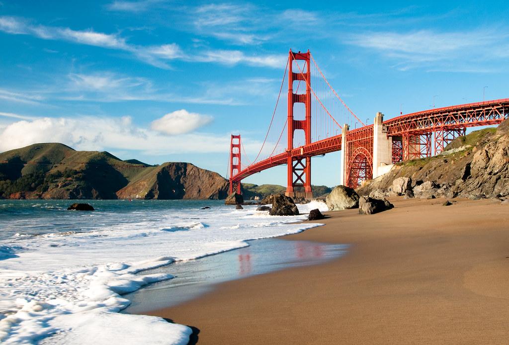 Golden gate beach