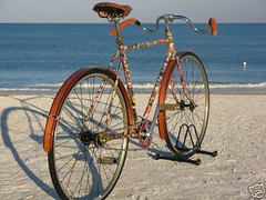 bike on a beach | by Woodys Fenders