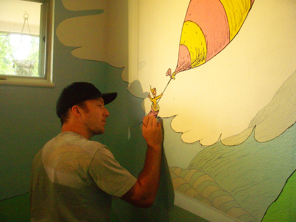 ... Me Painting Dr Seuss Mural | By ~Sh@wn~ Part 25