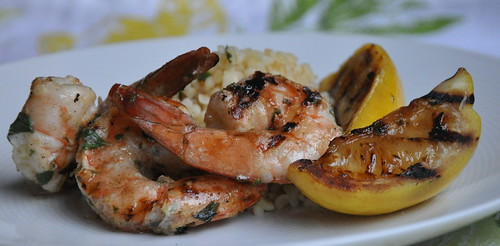 Lemon-Oregano Grilled Jumbo Shrimp | by Turntable Kitchen