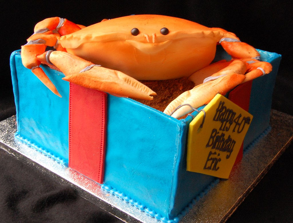 Crab Cake Happy Birthday Eric 8 X 8 Inch Square Box And Flickr