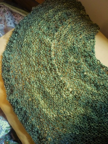 Seaweed Shawlette Project Spectrum: North | by Soasa Designs