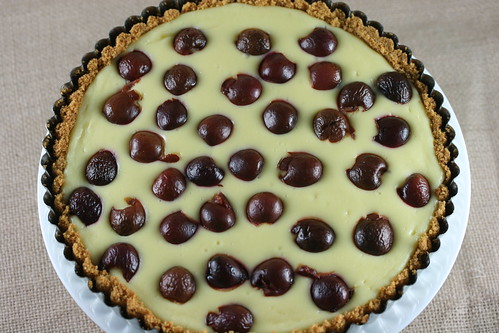 Food Librarian - Cherry Cheesecake Tart | by Food Librarian