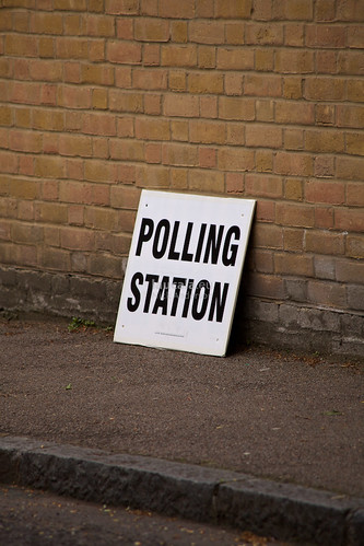 10.126 UK election day polling station sign | by laucala.eu