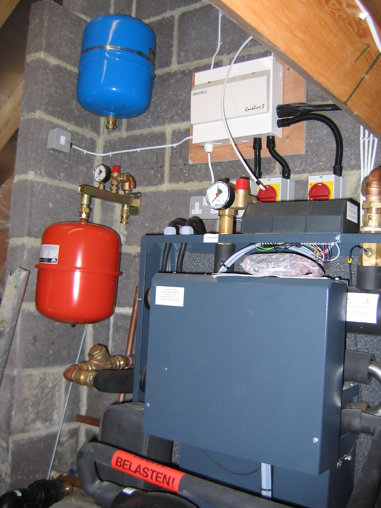 Heat pump wiring and plumbing | Looks neat and well done. | Flickr