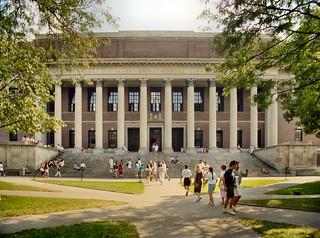 P_30p Cambridge - The Widener Library (1915) - Harvard University - Massachusetts - Perspective Adjusted | by CthulhuWho1 (Will Hart)