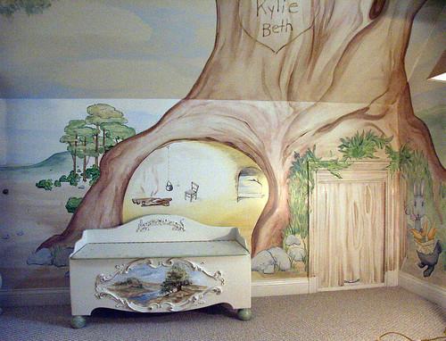 Beatrix potter mural cubbyhole2 flickr for Beatrix potter mural