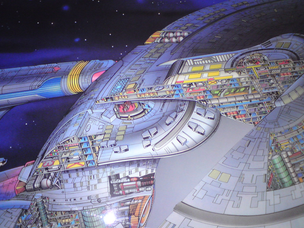 uss enterprise ncc 1701 d cutaway poster flying through s flickr