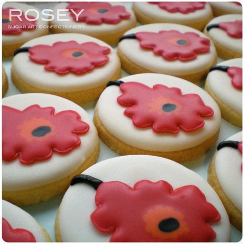 Unikko Wedding Favour Cookies 1 | by rosey sugar