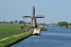 Dutch Windmill in Friesland, The Netherlands | by holland-photo