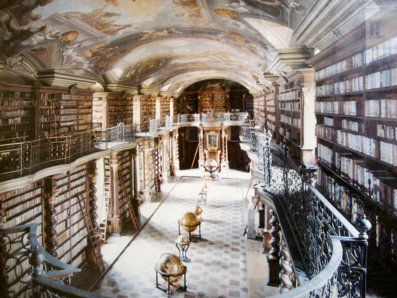 Bibliothèque baroque du Clementinum à Prague - Photo de  Christian Bredfeldt.