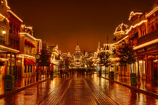 DLRP Feb 2009 - Main Street on a rainy night | by PeterPanFan