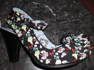 Irregular Choice White Lace Shoes