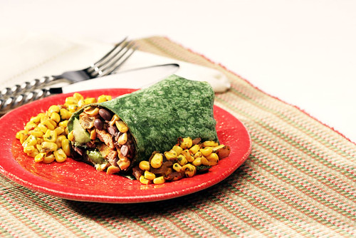 Chipotle Black Bean Burrito   A spinach tortilla bursting wi ...