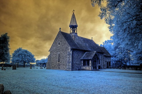 Infrared HDR All Saints church Crowfield Suffolk | by Brokentaco