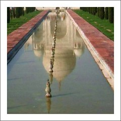 the Taj reflecting in the pond in front | by Ginas Pics